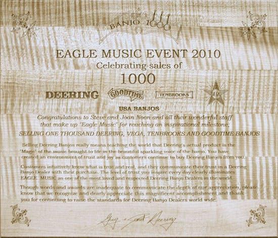 Banjo 1000 Award