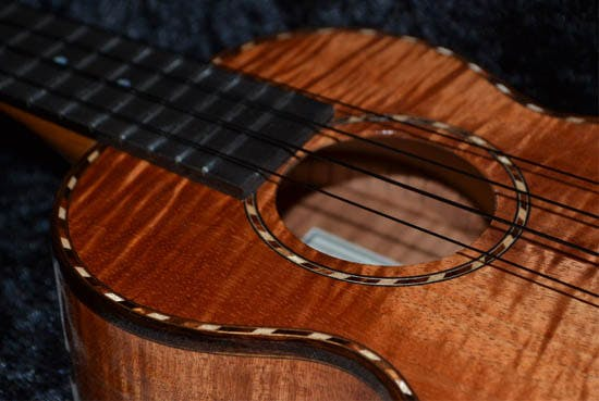 Kamaka Deluxe Concert all solid koa Ukulele at Eagle Music