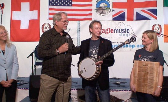 Deering Present Eagle Music with White Oak banjo