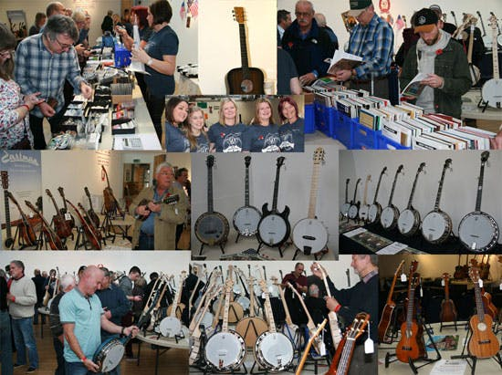 Eagle Music trade stand at Deering Banjos Event for 40th anniversary 2015