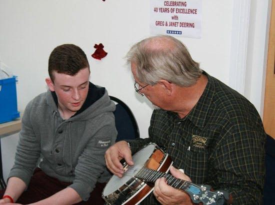 Greg Deering banjo set ups