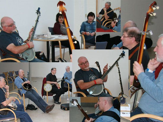 Pat Kelleher long neck banjo workshop