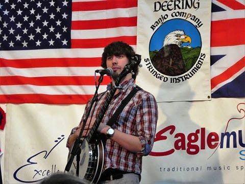 Eagle Music with Deering Banjos at the 10th Anniversary event
