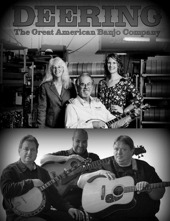 Greg Janet and Jamie Deering with the Kruger Brothers