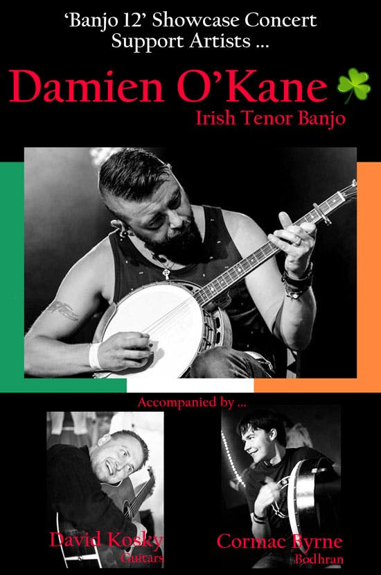 Damien O'Kane at Eagle Music Banjo 12 2019