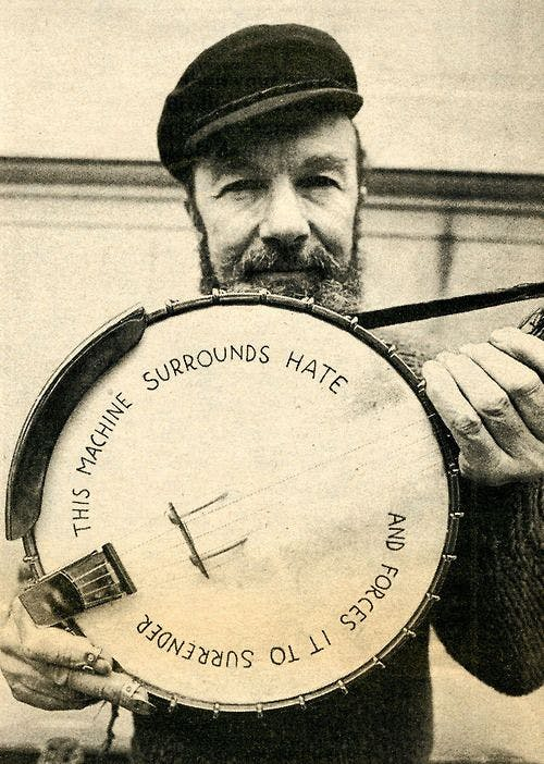 Pete Seeger Iconic Banjo Head