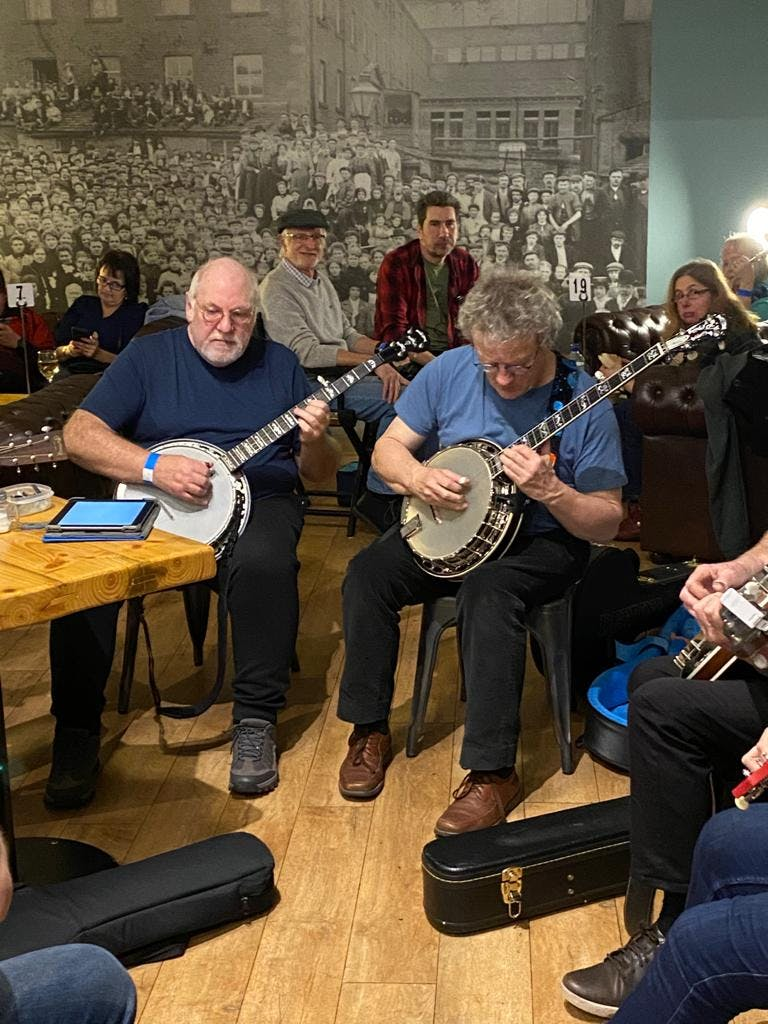 Joe Mac and Bill Forster at Banjo 2020